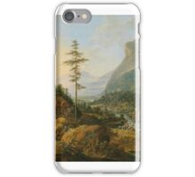 January Griffier  width idealized river landscape with a hunting party iPhone Case/Skin