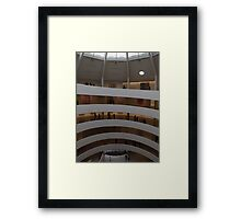 Interior of Guggenheim Museum, Frank Lloyd Wright Architect, New York City Framed Print
