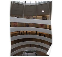Interior of Guggenheim Museum, Frank Lloyd Wright Architect, New York City Poster