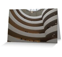 Interior of Guggenheim Museum, Frank Lloyd Wright Architect, New York City Greeting Card