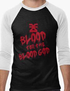 Khorne Graffiti Plain Men's Baseball ¾ T-Shirt