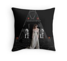 Dark Dreams 4-Hell's Zombie Bride Throw Pillow