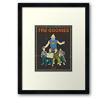 The Goonies - Brown Framed Print