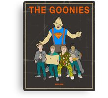 The Goonies - Brown Canvas Print