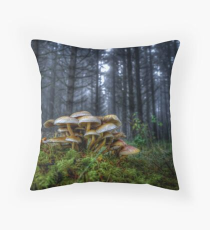 The Rat Pack ~ Wild Mushrooms ~ Throw Pillow