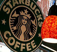 Starbucks Madrid Poster by LukeWarren