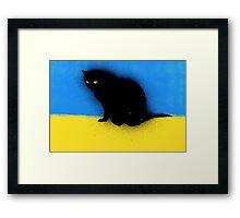 Graffiti Kitty Framed Print