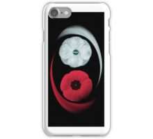 POPPIES ~ PEACE  & REMEMBRANCE GO TOGETHER UNITED WE STAND IPHONE CASE iPhone Case/Skin
