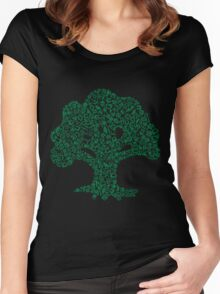 Forest Mosaic Women's Fitted Scoop T-Shirt