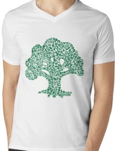 Forest Mosaic Mens V-Neck T-Shirt