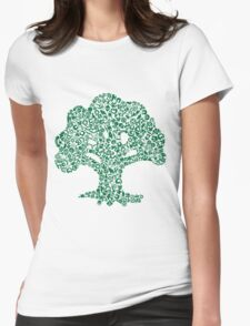 Forest Mosaic Womens Fitted T-Shirt