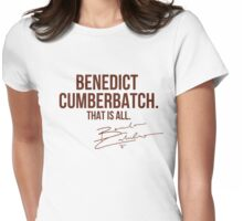 Benedict Cumberbatch Appreciation WITH AUTOGRAPH Womens Fitted T-Shirt