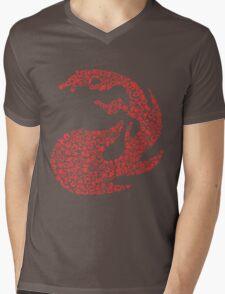 Mountain Mosaic Mens V-Neck T-Shirt