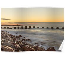 Lossiemouth West Beach November Sunset Poster