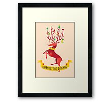 Ours is the eggnog Framed Print