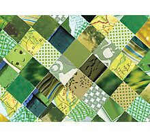 collagecard: Green Photographic Print
