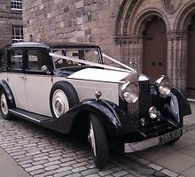 Vintage 1936 Rolls Royce 20/25 Front View by Adrian Wale