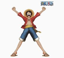Mugiwara no Luffy with logo by Zandramas