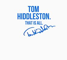 Tom Hiddleston Appreciation WITH AUTOGRAPH Womens Fitted T-Shirt