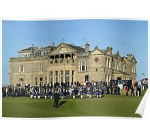 Pipe Band in Front of the Royal and Ancient Clubhouse Poster