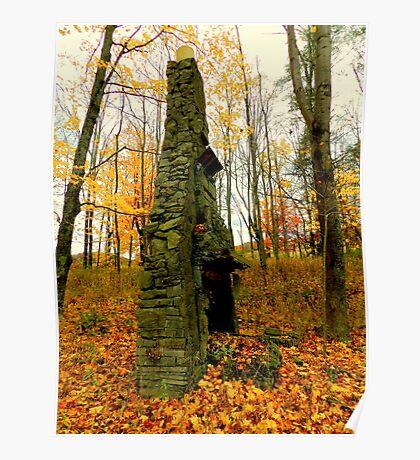 Stone Chimney on Big Pine Road Poster