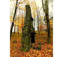 Stone Chimney on Big Pine Road Photographic Print