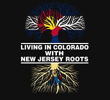 LIVING IN COLORADO WITH NEW JERSEY ROOTS Women's Relaxed Fit T-Shirt