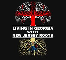 LIVING IN GEORGIA WITH NEW JERSEY ROOTS Women's Relaxed Fit T-Shirt
