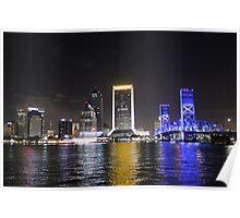 Cityscape Jacksonville Poster