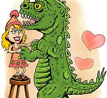 Refrigerator Door Series 3: Madeline's Dino Dancing by ZugArt