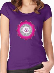 Aum 7 Women's Fitted Scoop T-Shirt
