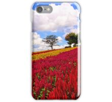 Colorful Plumed Cockscomb Field Vibrant Flowers iPhone Case/Skin