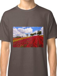 Colorful Plumed Cockscomb Field Vibrant Flowers Classic T-Shirt