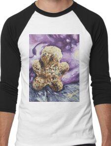 Furry Man (with nothing) Men's Baseball ¾ T-Shirt