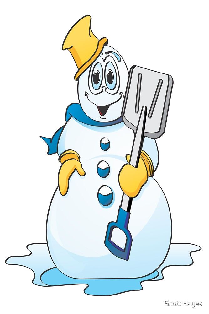 Blue Gold Snowman by Graphxpro