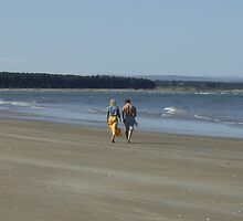 Couple Walking on West Sands by Adrian Wale