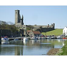 St Andrews Harbour and Cathedral Photographic Print