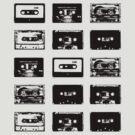 Audio Cassette Tapes (Black) by raneman