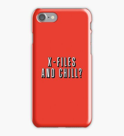 X-Files and Chill iPhone Case/Skin