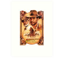 Indiana Jones and The Last Crusade Movie Poster Art Print