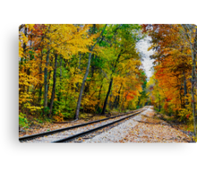 Painted Railway Canvas Print