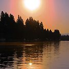 Spokane River Sunrise by JOSEPHMAZZUCCO