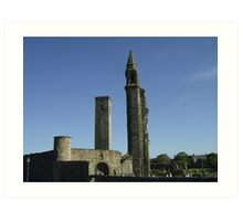 St Andrews Cathedral Under Clear Blue Skies Art Print