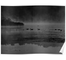 Foggy Morning At The Lake Poster