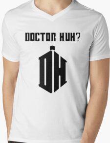 Dr Huh? - Black Mens V-Neck T-Shirt
