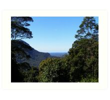 Looking back to the coast on the way to Dorrigo. Nrth. N.S.W. Art Print