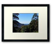 Looking back to the coast on the way to Dorrigo. Nrth. N.S.W. Framed Print