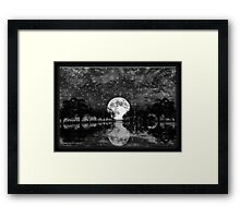 ©DA Moon On Trees IA Monochrome Framed Print