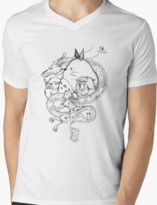 Miyazaki mash up Mens V-Neck T-Shirt
