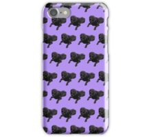 Purple Chocolate Lab Color Pattern iPhone Case/Skin